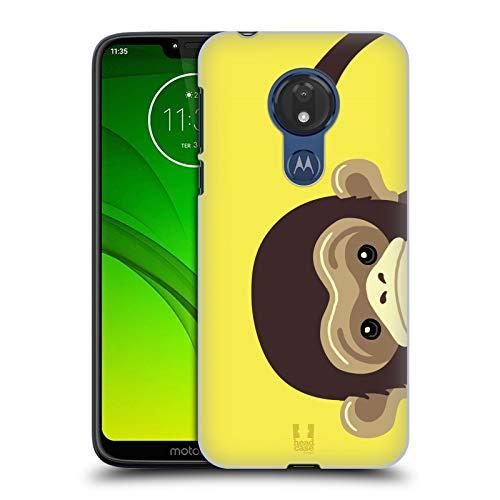 Head Case Designs Monkey Peeking Animals Hard Back Case Compatible for Motorola Moto G7 Power