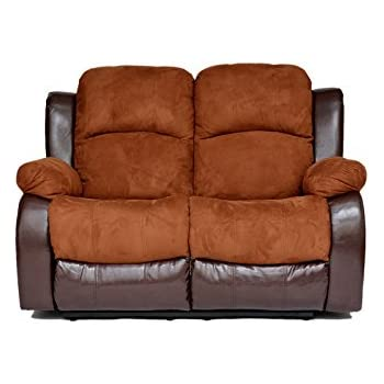 Classic and Traditional Brush Microfiber and Bonded Leather Recliner Loveseat (Brown)  sc 1 st  Amazon.com & Amazon.com: Classic and Traditional Brush Microfiber and Bonded ... islam-shia.org