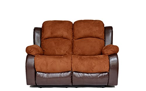 Classic Traditional Microfiber Recliner Loveseat