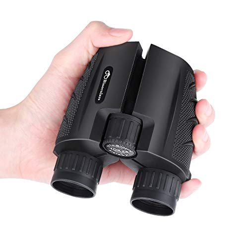 🥇 BRIGENIUS 10×25 Compact Binoculars for Adults with Weak Light Night Vision Clear Bird Watching Great for Outdoor Sports Games and Concerts