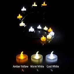 AGPtek LED Tea Lights, Flameless, Long Lasting, Pack of 24