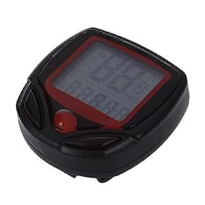 SODIAL(R) Velocimetro Cuentakilometros LCD SD-548B para Bicicleta, Negro y Rojo