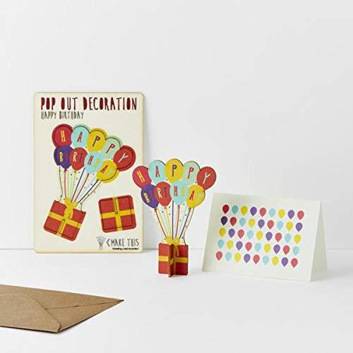 Pop Out Tarjeta de felicitación con sobre, diseño de Globos ...
