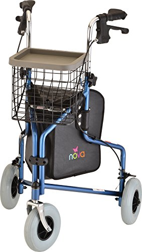 NOVA Traveler 3-Wheeled Rollator Walker, Blue