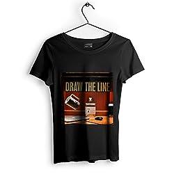 Westlake Art Desk Cup - Unisex Tshirt - Picture Photography Artwork Shirt - Black Adult Medium (None-A7003)