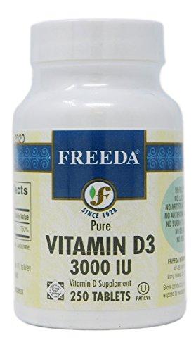 Freeda Vitamin D3 3000 IU, 250 Tabs Kosher