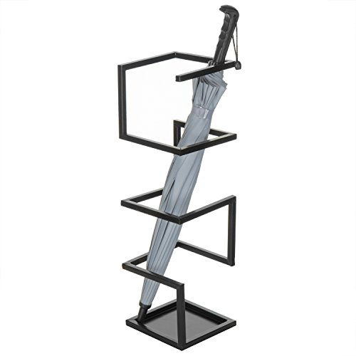 MyGift Geometric Design Metal Umbrella Holder Stand, ()