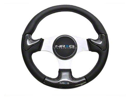 NRG ST-013CFSL Carbon Fiber Steering Wheel (350mm Silver ...