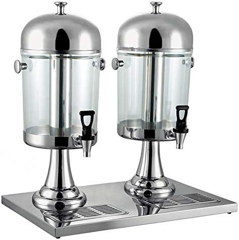 飲料マシン プロフェッショナルジュースマシンミルクティーバレルコールドドリンクマシン、ステンレス鋼の商業氷と飲料マシン(サイズ:16L) 使いやすいビュッフェの飲み物機械 (色 : 銀, サイズ : 46.7x35x59cm)