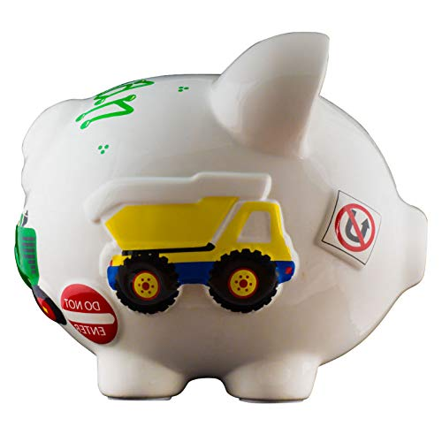 Work Truck Boys Piggy Bank - Large - (Personalized & Custom With Name And Year) (First Financial Toy For Teaching Boys & Girls About Saving Money) (Perfect Unique Gift Idea For Babys 1st Birthday) by HolidayTraditions (Image #2)