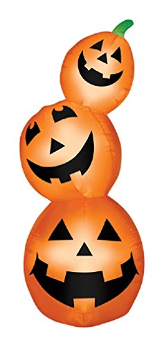 Gemmy 70764 Halloween Decoration Inflatable Pumpkin Stack, Lighted Orange