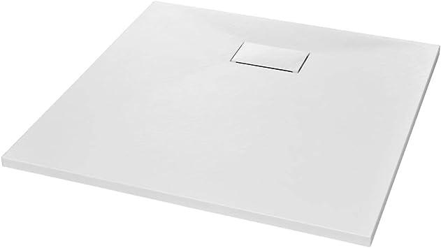 Shower Base Tray Bathroom Non Slip SMC Drain Enclosure Black//White Low Threshold