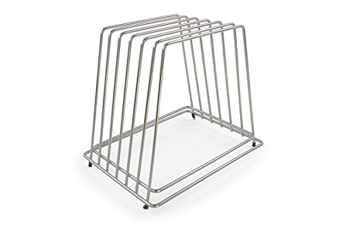 - Commercial Cutting Board Rack - Stainless Steel, No Rusting - Holds 6 Full Size Boards