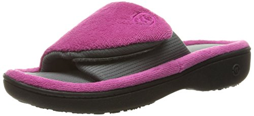 isotoner-womens-microterry-adjustable-slide-slippers-tickle-pink-medium-75-8-m-us