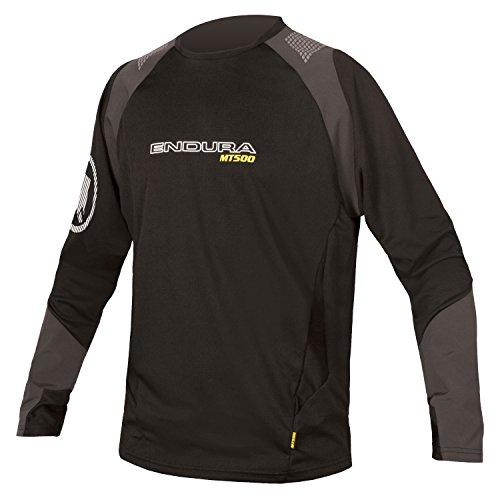 Endura MT500 Burner Long Sleeve Cycling Jersey (Medium, Black)