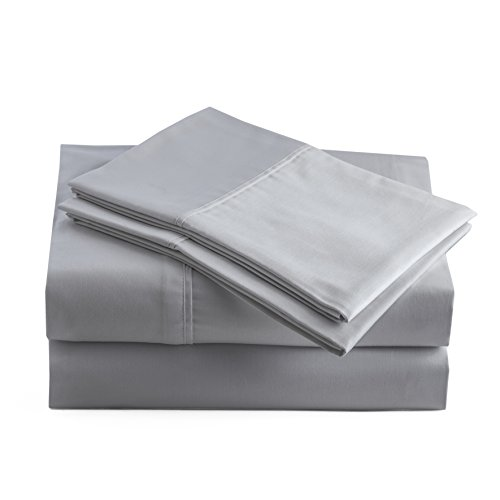 Peru Pima - 250 Thread Count - Peruvian Pima Cotton - Luxury Hotel Quality, Wrinkle Free - Percale - Bed Sheet Set - Queen, Slate (Pima Cotton Sheets)
