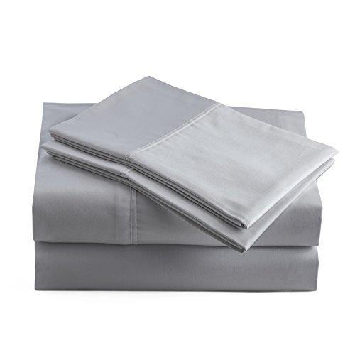 Peru Pima - 415 Thread Count - 100% Peruvian Pima Cotton - Percale - Bed Sheet Set (Queen, Slate)
