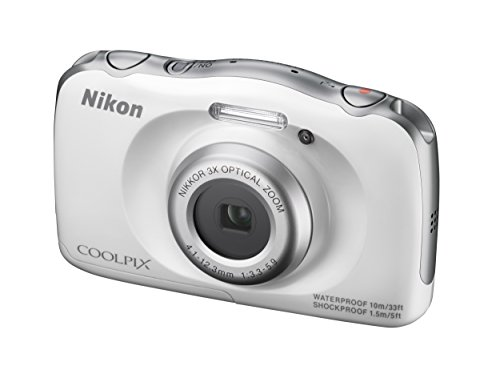 Nikon COOLPIX S33 Waterproof Digital Camera (White) (Discontinued by Manufacturer)