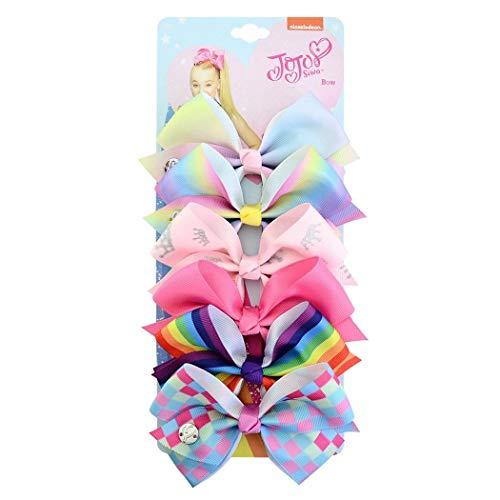 Aelove (6 Color a Set) Baby Girls Hair Clip Casual Bow Shape Hair Decoration Hair Accessories