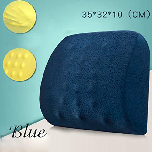 Memory Foam Velvet Back Seat Cushion Pillow For Office Home Chair Massage Cushions by Zarbrina