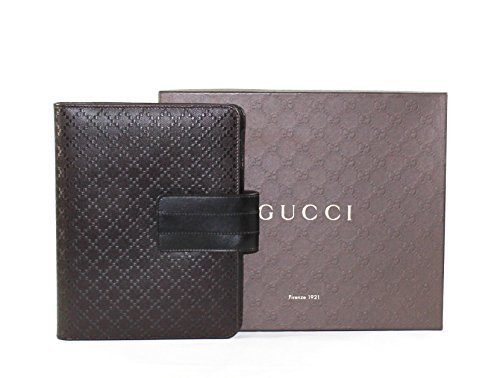 Diamante Leather - Gucci Diamante Leather iPad Case, Dark Brown 283782