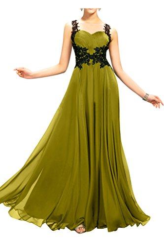 sunvary de raso y de encaje Sheer espalda Vestido Dama de honor para Boda invitados verde oliva