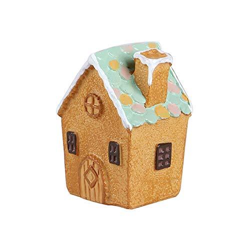 AMZLUCKY - Cute Miniature Fairy Garden Terrarium Figurines Resin House Decoration DIY Craft Ornament Bonsai Micro Landscaping Crafts