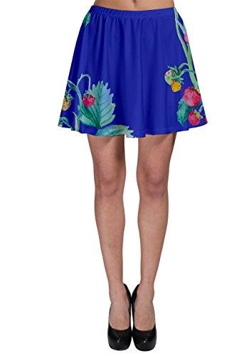 Cowcow Womens Strawbery Vines Skater Falda Azul