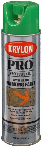 Krylon K07322007 Fluorescent Neon Green Water Based Marking Paint - 15 oz. Aerosol (Neon Green Automotive Paint)