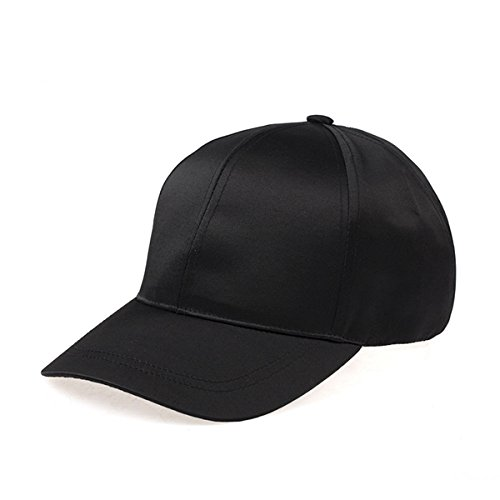 Unisex Woemn Man Satin Polyester Fitted Hat Plain Adjustable Baseball Sports Visors Leisure Cap by - Shop Dallas Spy