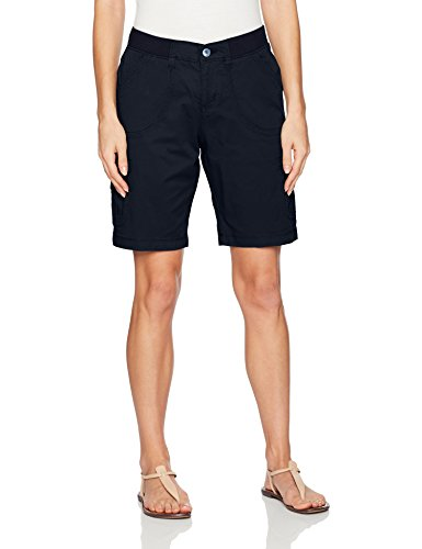 Lee Women's Relaxed Fit Diani Knit Waist Bermuda Short, Twilight Denim, 18 (Bermuda Slim Shorts)