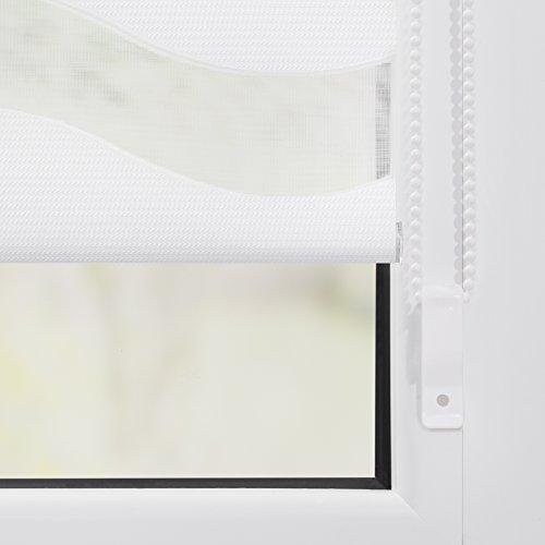 Lichtblick luz Visión Duo - Estor Onda Klemmfix, poliéster, weiß, 60 cm x 150 cm (B x L): Amazon.es: Hogar