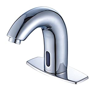 ROVATE Automatic Sensor Lavatory Sink Faucet - Commercial Mixer Tap with Aerator, Polished Chrome