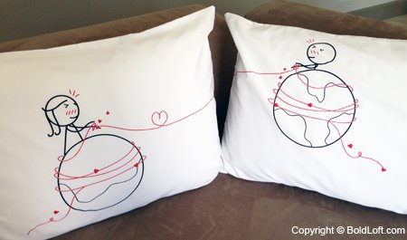 mile couples pillowcases long distance relationships gifts long distance gifts his and hers gifts for him her ldr couples valentines day gifts