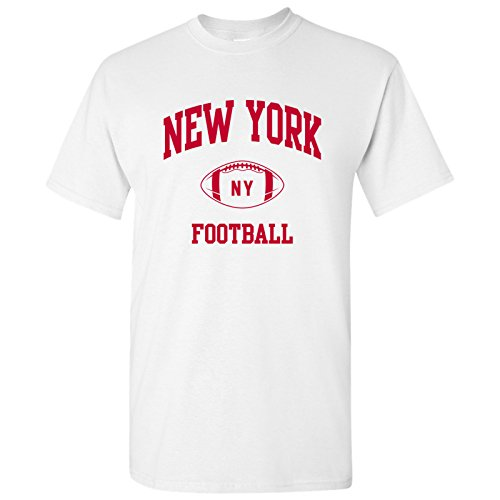 (New York Classic Football Arch Basic Cotton T-Shirt - X-Large -)