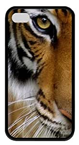 iPhone 4S Case,Tiger3 Custom TPU Soft Case Cover Protector for iPhone 4/4S Black