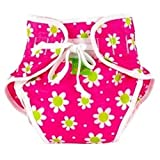 Kushies Swim Diaper, Fuchsia Daisy Print, Large