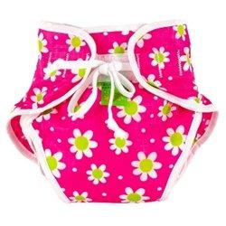 Kushies Swim Diaper, Fuchsia Daisy Print, Large