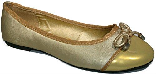 T. Klein Ballet Flats Oro
