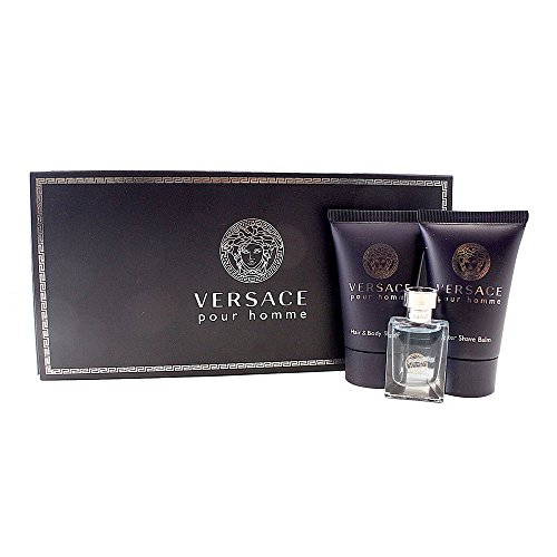 (Versace Pour Homme for Men, 3 Piece Mini Gift Set)