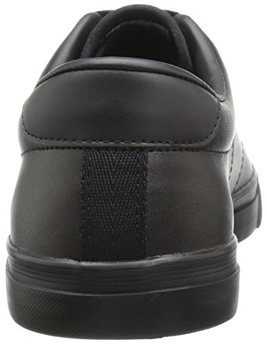 Fred Perry Men's Underspin Leather Fashion Sneaker, Black/Black, 8 UK/9 D US