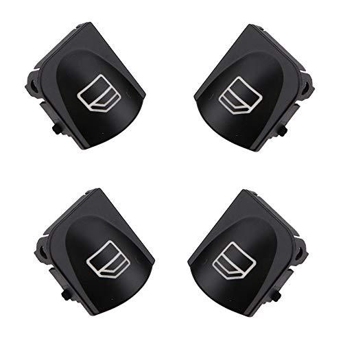 Bot/ón de Interruptor de Ventana para Mercedes-Benzc-Class W203 S203 pbauto 4 Unidades