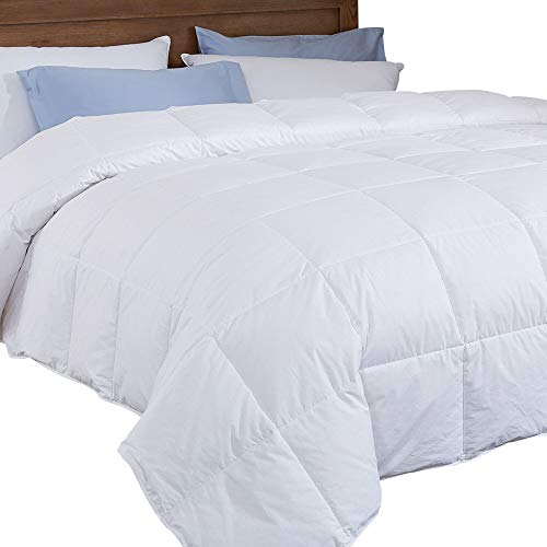 puredown Lightweight Down Comforter Light Warmth Duvet Insert, King, White