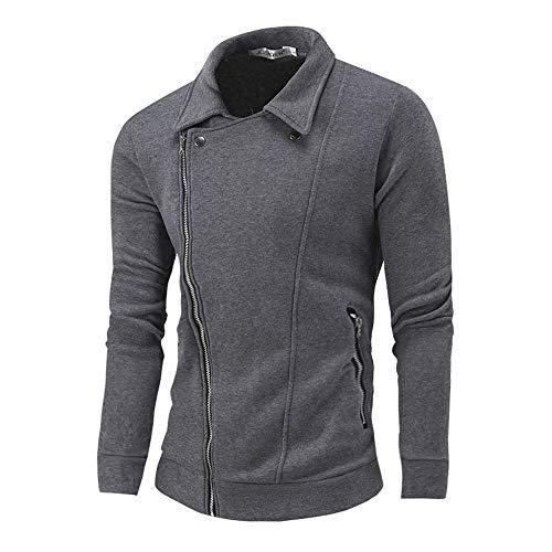 Danhjin Women's Men's Autumn Winter Winproof Zip Up Hoodie Solid Zipper Long Sleeve Jacket Coat Top Blouse Sweatshirt (Gray, XL) (Defense Top Coat)