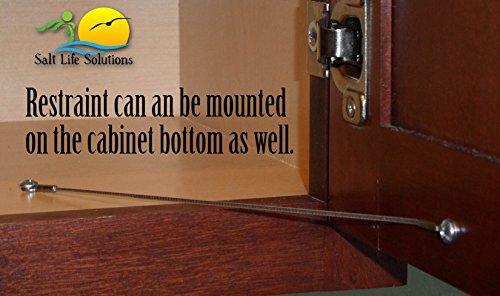 Door Limiter Hardware & Cabinet Door Restraint (10 Pack) 8 Inch ...