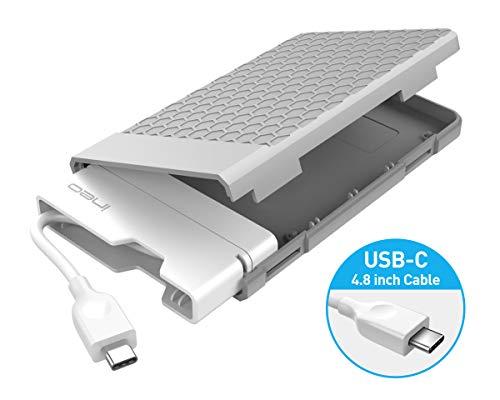 ineo USB 3.1 Gen 2 Type C (10Gbps) Tool-Less External Hard Drive Enclosure for 2.5 inch 9.5mm & 7mm SATA HDD SSD USB-C Screwless (USB 3.1 Gen2 Type C) [C2578c]