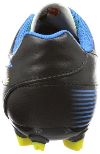 Puma Velize II FG Jr - Zapatos de fútbol de material sintético infantil negro - Schwarz (black-blazing yellow-brilliant blue 02)