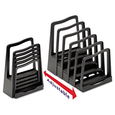 Adjustable File Rack Color: Black