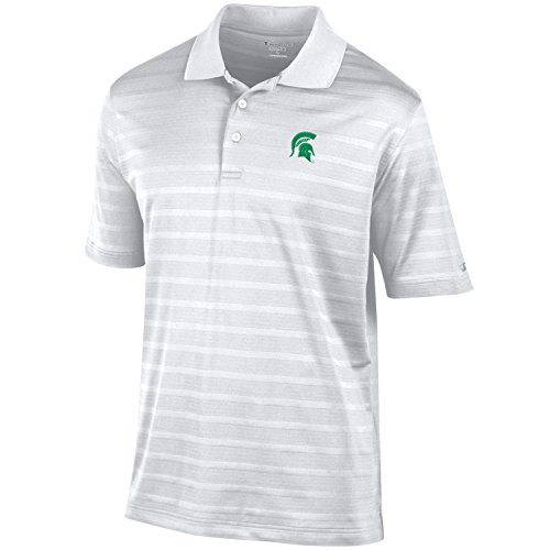 NCAA Michigan State Spartans Men's Textured Solid Polo, Large, White