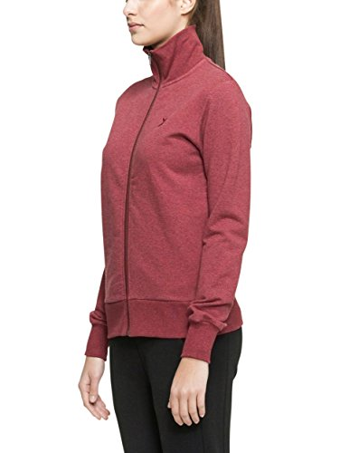 Sweat Piece High red Mel Neck One Rouge shirt Out De Zip Mixte Sport wXHqPd4